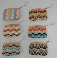"5""x3.75"" Zippered Change Purse [Glitter Chevron]"